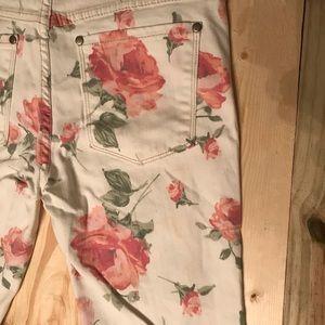 Free People Rose Floral Skinny Jeans